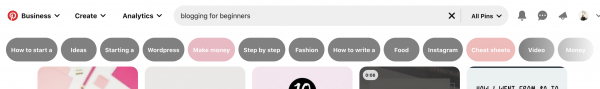 How to use pinterest guided search tool
